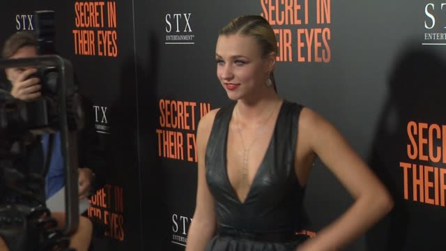 Maty Noyes at Secret In Their Eyes Los Angeles Premiere at Hammer Museum on November 11 2015 in Westwood California