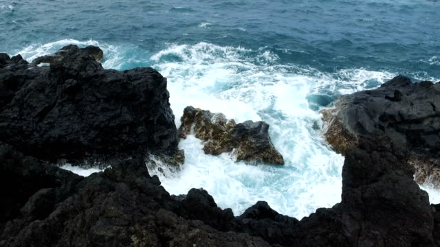 maui island rocky outcroppings coastal features - butte rocky outcrop stock videos & royalty-free footage
