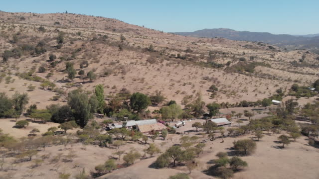 maule region is an area highly affected by the drought, due to low rain, water extraction and climate change. maule, chile, on sunday, january 26,... - öde landschaft stock-videos und b-roll-filmmaterial