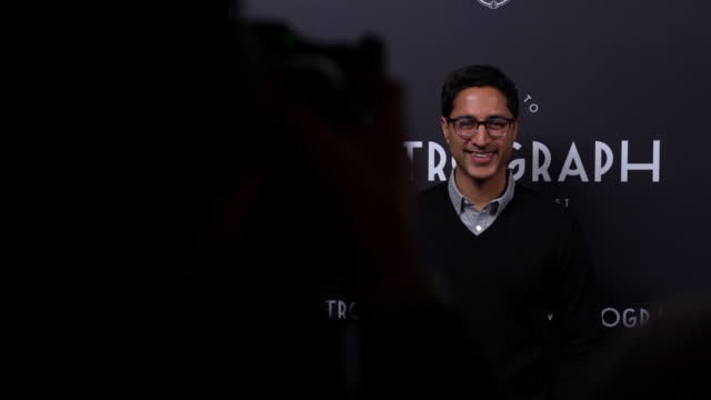 maulik pancholy at the metrograph 3rd anniversary party at metrograph on march 20 2019 in new york city - maulik pancholy stock videos and b-roll footage