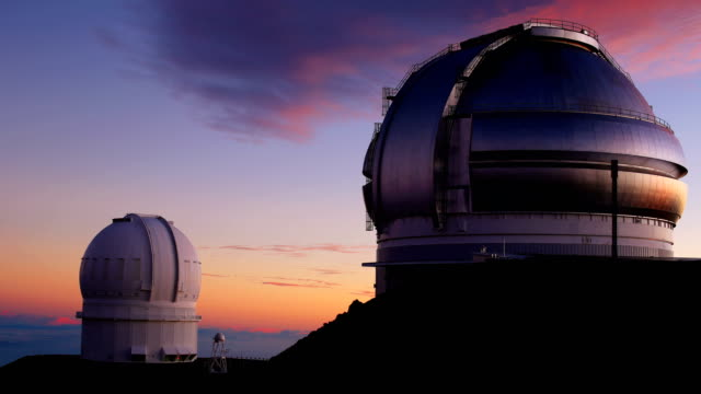 mauna kea observatories - hawaii islands stock videos & royalty-free footage