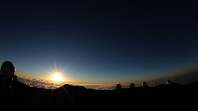 Mauna Kea With Setting Sun, HI, USA