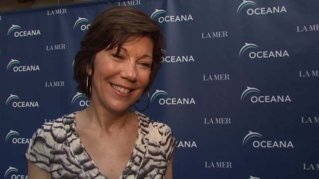 maureen case president of la mer on what the evening represents la mer's collaboration with oceana working with the oceana team at the oceana la mer... - oceana stock videos & royalty-free footage