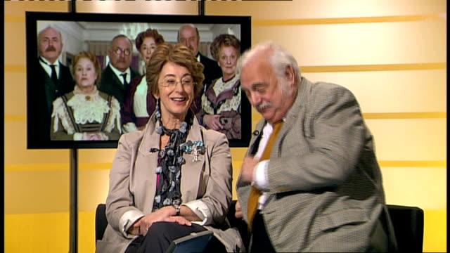 maureen lipman and roy hudd interview england london int maureen lipman and roy hudd interview sot - roy hudd stock videos & royalty-free footage