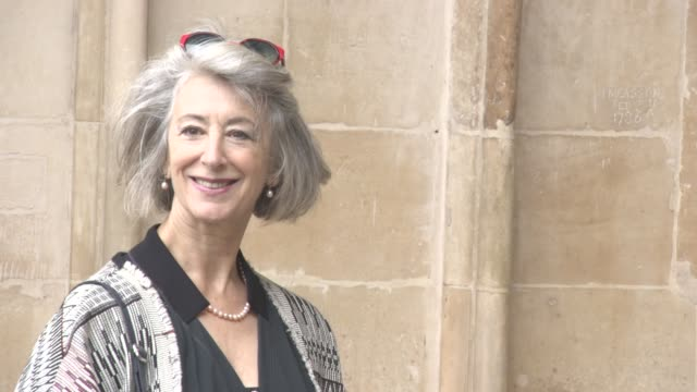 maureen lipman at a service of thanksgiving for the life and work of sir terry woganat westminster abbey on september 27 2016 in london england - mark wogan stock videos and b-roll footage