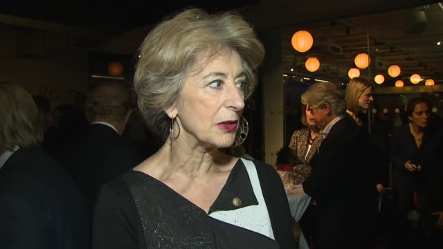 interview maureen lipman on ed miliband and antisemitism at jff opening night the art dealer on 6th november 2014 in london england - maureen lipman stock videos and b-roll footage