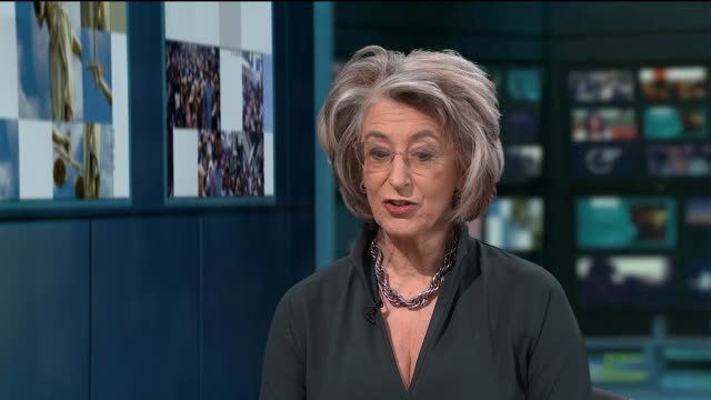 maureen lipman stars in one woman show 'up for it' at the southbank centre england london gir int maureen lipman live studio interview sot - maureen lipman stock videos and b-roll footage