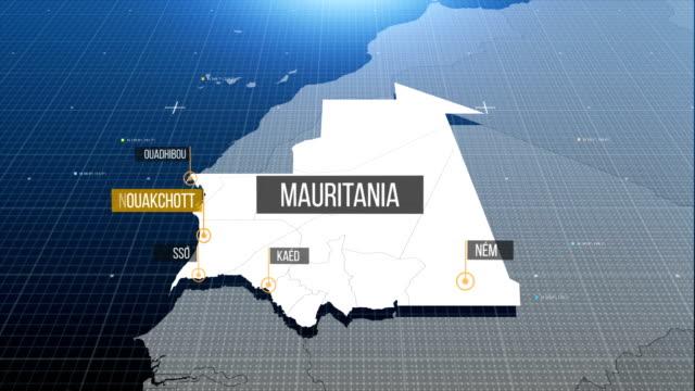 mauritania map - mauritania stock videos & royalty-free footage
