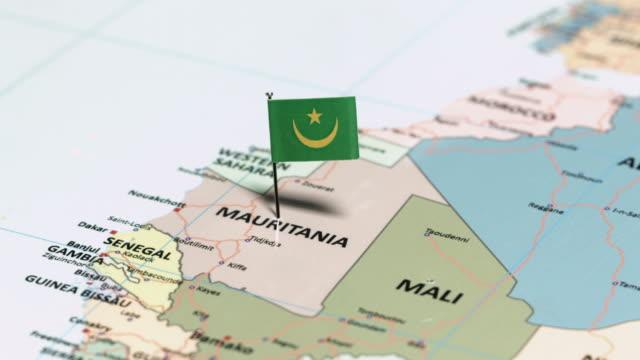 mauritania with national flag - mauritania stock videos & royalty-free footage