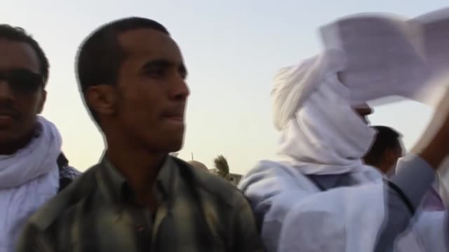 mauritanian lawyers stage a protest against u.s. president donald trump's announcement to recognize jerusalem as the capital of israel and plans to... - ヌアクショット点の映像素材/bロール