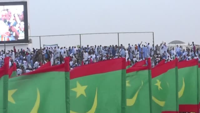 mauritanian opposition candidate sidi mohamed ould boubacar campaigns in nouakchott his last rally ahead of presidential elections - mauritania stock videos & royalty-free footage