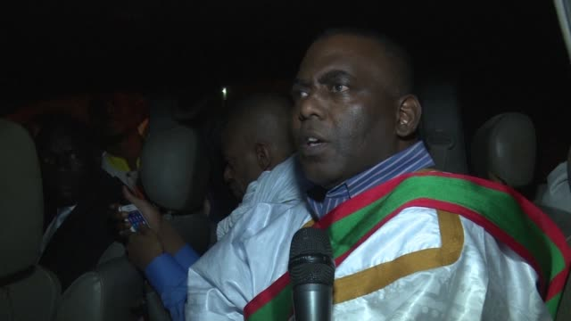 mauritanian opposition mp and anti slavery campaigner biram ould dah ould ould abeid who was on trial in nouakchott for threats against a journalist... - nouakchott stock videos & royalty-free footage