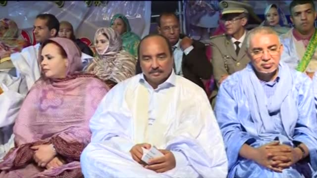 mauritanian president mohamed ould abdel aziz kicks off his yes campaign for the upcoming referendum that would change the constitution with a rally... - nouakchott stock videos & royalty-free footage