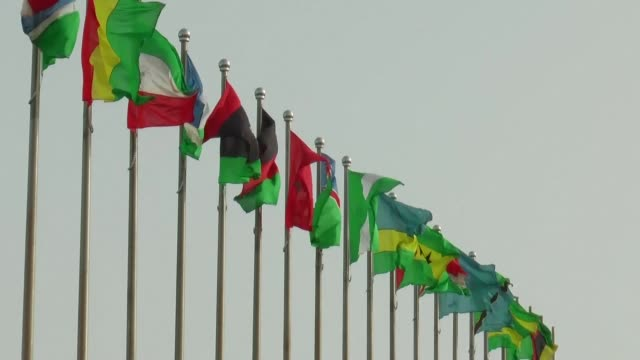 mauritanian president mohamed ould abdel aziz on sunday opens a two-day african union summit of heads of state in the capital nouakchott focused on... - nouakchott stock videos & royalty-free footage