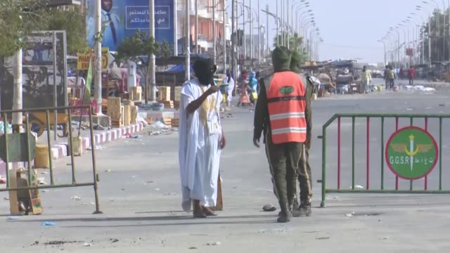mauritanians rush in the streets of nouakchott in the late afternoon as soon as a curfew, introduced on saturday - mauritania stock videos & royalty-free footage