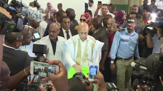 mauritania's outgoing president mohamed ould abdel aziz calls for voters to choose a successor who will lead the country on the right path of... - nouakchott stock videos & royalty-free footage
