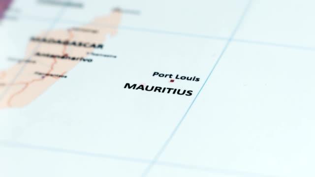 Afrika-Mauritius auf Weltkarte