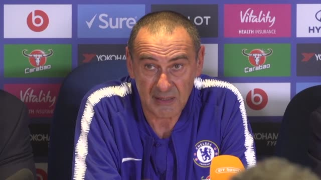 maurizio sarri praises chelsea's mental strength as they snatch a 32 win over arsenal despite squandering a two goal lead in a horrible period that... - sports period stock videos & royalty-free footage