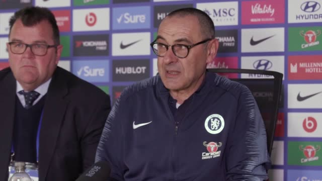 maurizio sarri recognised chelsea had been lucky to secure a vital victory over watford after finding themselves in trouble during the first half the... - sports league stock videos & royalty-free footage