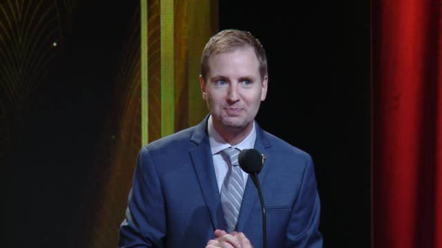 SPEECH Maury McIntyre welcomes attendees to the 67th Primetime Emmy Awards Nominations at SilverScreen Theater at the Pacific Design Center on July...