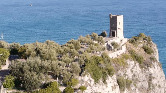 m/s mausoleum of enrico caviglia in finale ligure, italy - spoonfilm stock-videos und b-roll-filmmaterial