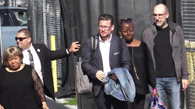 mavis staples arrives at jimmy kimmel live at el capitan theatre in hollywood in celebrity sightings in los angeles, - el capitan theatre stock videos & royalty-free footage
