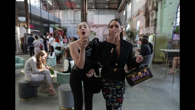mavournee hazel and olympia valance attend mercedesbenz fashion week resort 20 collections at carriageworks on may 14 2019 in sydney australia - hazel eyes stock videos & royalty-free footage