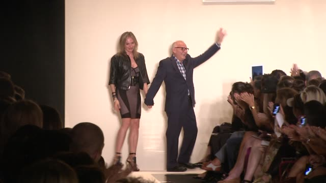 Max Azria and creative director Lubov Azria at Herve Leger by Max Azria Runway Spring 2013 MercedesBenz Fashion Week at The Theatre at Lincoln Center...
