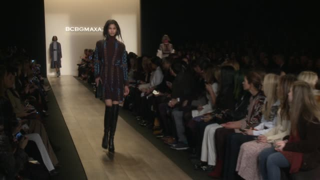 max azria runway fall 2015 mercedesbenz fashion week at lincoln center at the theater at lincoln center on february 12 2015 in new york city - event capsule stock videos & royalty-free footage