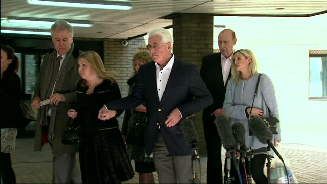 max clifford rolf harris and dave lee travis court arrivals and departures - rolf harris stock videos and b-roll footage