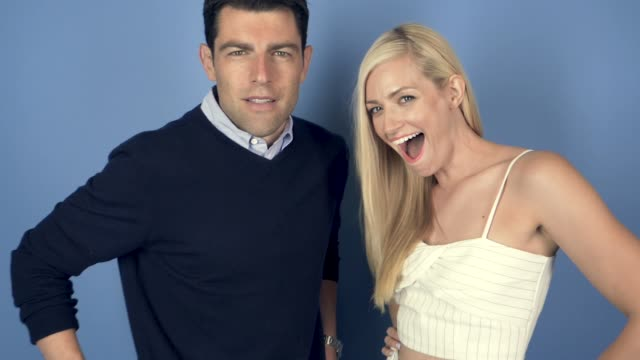 Max Greenfield and Beth Behrs of CBS's 'The Neighborhood' at the 2018 Summer TCA at The Beverly Hilton Hotel on August 5 2018 in Beverly Hills...
