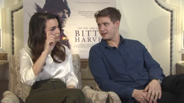 max irons, samantha barks on set chemistry, terence stamp and critic's response on february 20, 2017 in london, england. - critic stock videos & royalty-free footage