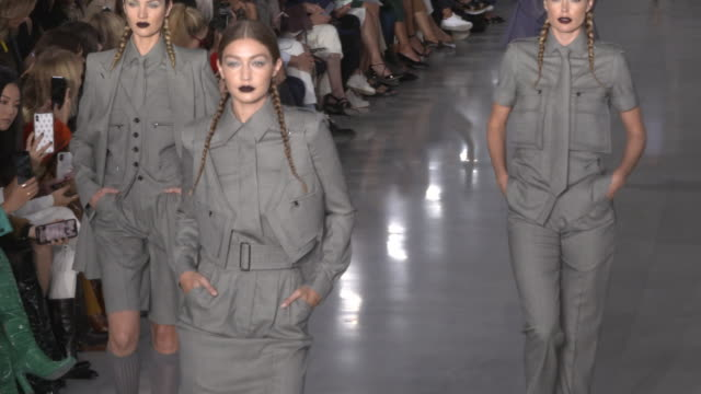 runway max mara mfw september 2019 on september 19 2019 in milan italy - catwalk stage stock videos & royalty-free footage