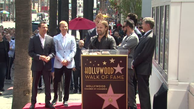 speech max martin on knowing the backstreet boys through their entire career at backstreet boys celebrate 20 year career with star on the hollywood... - backstreet boys stock videos & royalty-free footage