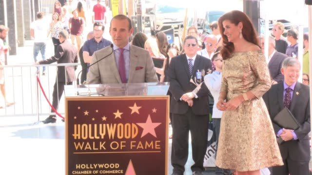 SPEECH Max Mutchnick at Debra Messing Honored with a Star on the Hollywood Walk of Fame on October 06 2017 in Hollywood California