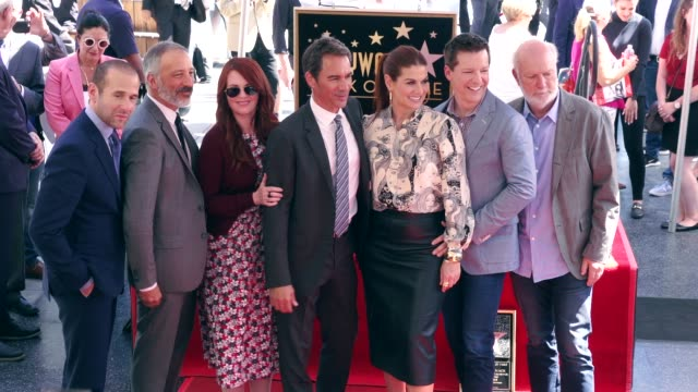 Max Mutchnick David Kohan Megan Mullally Eric McCormack Debra Messing Sean Hayes and James Burrows at the Eric McCormack Honored with a Star on the...