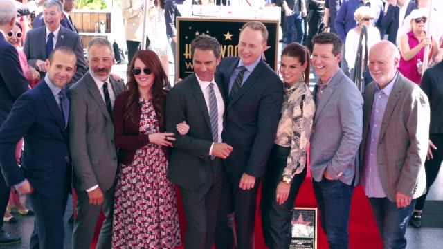 Max Mutchnick David Kohan Megan Mullally Eric McCormack Robert Greenblatt Debra Messing Sean Hayes and James Burrows at the Eric McCormack Honored...