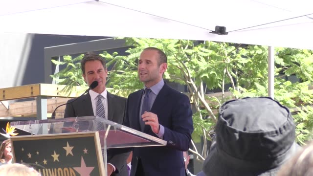 max mutchnick speaks onstage at eric mccormack's star ceremony on the hollywood walk of fame in hollywood in celebrity sightings in los angeles, - eric mccormack stock videos & royalty-free footage