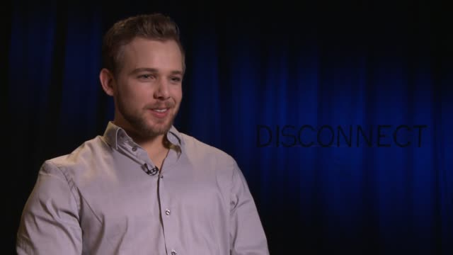 interview max thieriot on why he wanted to be a part of the film and on marc jacobs at 'disconnect' los angeles press junket in beverly hills ca on... - marc jacobs designer label stock videos and b-roll footage