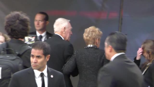 Max von Sydow arrives to Star Wars The Force Awakens Premiere on Hollywood Blvd at Celebrity Sightings in Los Angeles on December 14 2015 in Los...