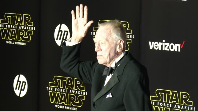 Max von Sydow at the Star Wars The Force Awakens World Premiere at TCL Chinese Theatre on December 14 2015 in Hollywood California