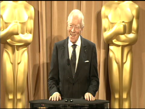 Max von Sydow on documentary films and on meeting the other nominees at the 84th Academy Awards Nominations Luncheon in Beverly Hills CA on 2/6/12