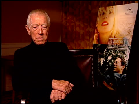 Max von Sydow on his character in the film at the 'The Diving Bell and the Butterfly' Press Junket at NULL in Los Angeles California on November 9...