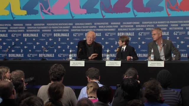 Max Von Sydow on his experience in Sweden at Extremely Loud And Incredibly Close Press Conference 62nd Berlinale International Film Festival on...