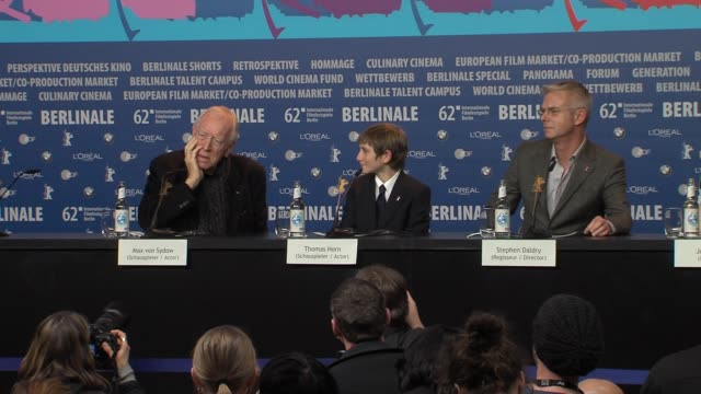 Max Von Sydow on personal time at Extremely Loud And Incredibly Close Press Conference 62nd Berlinale International Film Festival on February 10 2012...