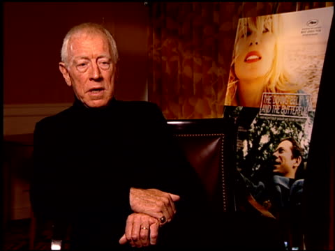Max von Sydow on the emotional impact of the film at the 'The Diving Bell and the Butterfly' Press Junket at NULL in Los Angeles California on...