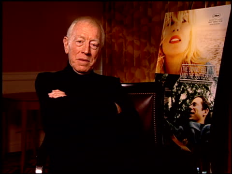 Max von Sydow on the film's message at the 'The Diving Bell and the Butterfly' Press Junket at NULL in Los Angeles California on November 9 2007