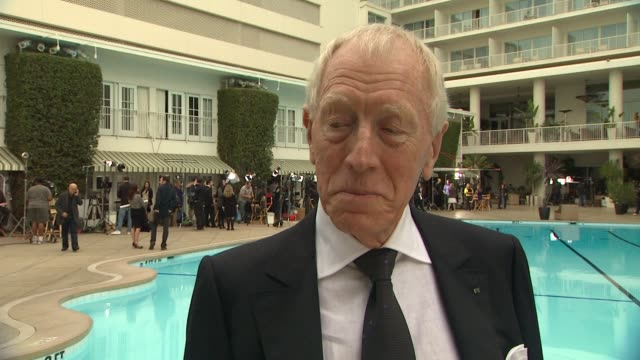 Max von Sydow on the luncheon and what they were told about Oscar speeches what awards season has been like for him at 84th Academy Awards...
