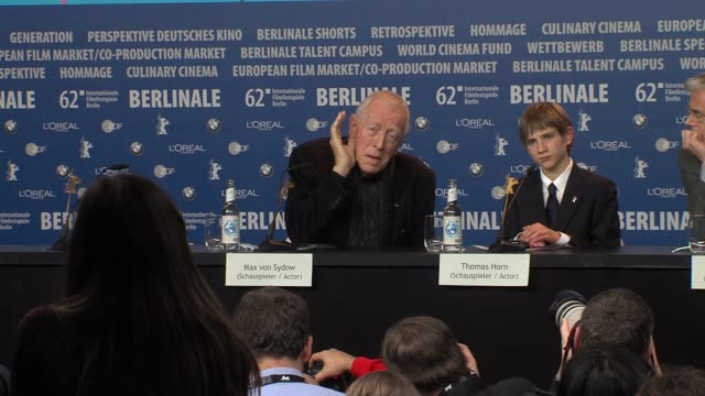 Max Von Sydow on the type of father he is at Extremely Loud And Incredibly Close Press Conference 62nd Berlinale International Film Festival on...