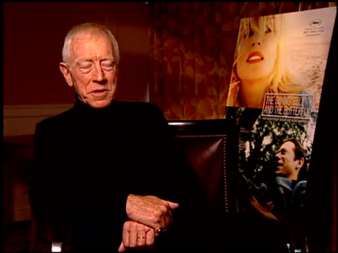 Max von Sydow on why he wanted to be a part of the project at the 'The Diving Bell and the Butterfly' Press Junket at NULL in Los Angeles California...